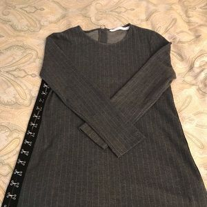 Zara grey menswear dress with hook n eye side seam